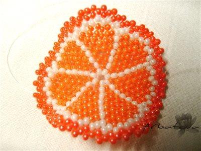 Брелок - долька апельсина из