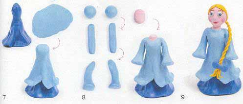 Как сделать снегурочку своими руками из пластилина