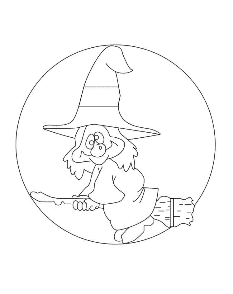 Раскраска на распечатку с рисунком ведьмы тыквы соуса болоньезе