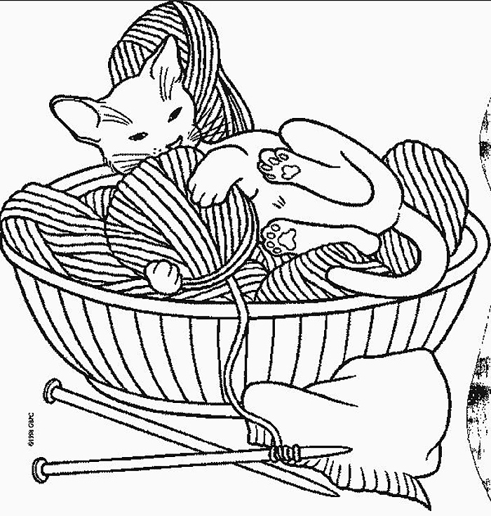 yarn coloring pages - 600×630
