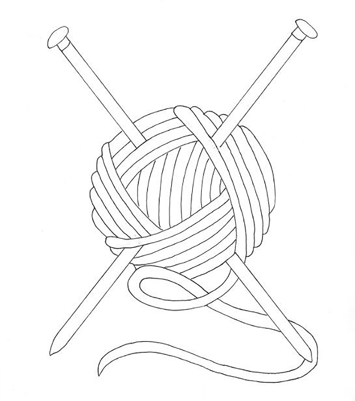 yarn coloring pages - 545×615