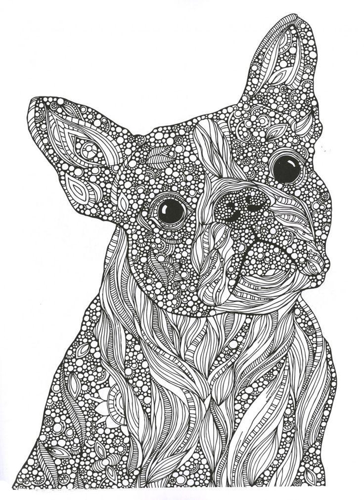 Раскраска для девочек собаки антистресс