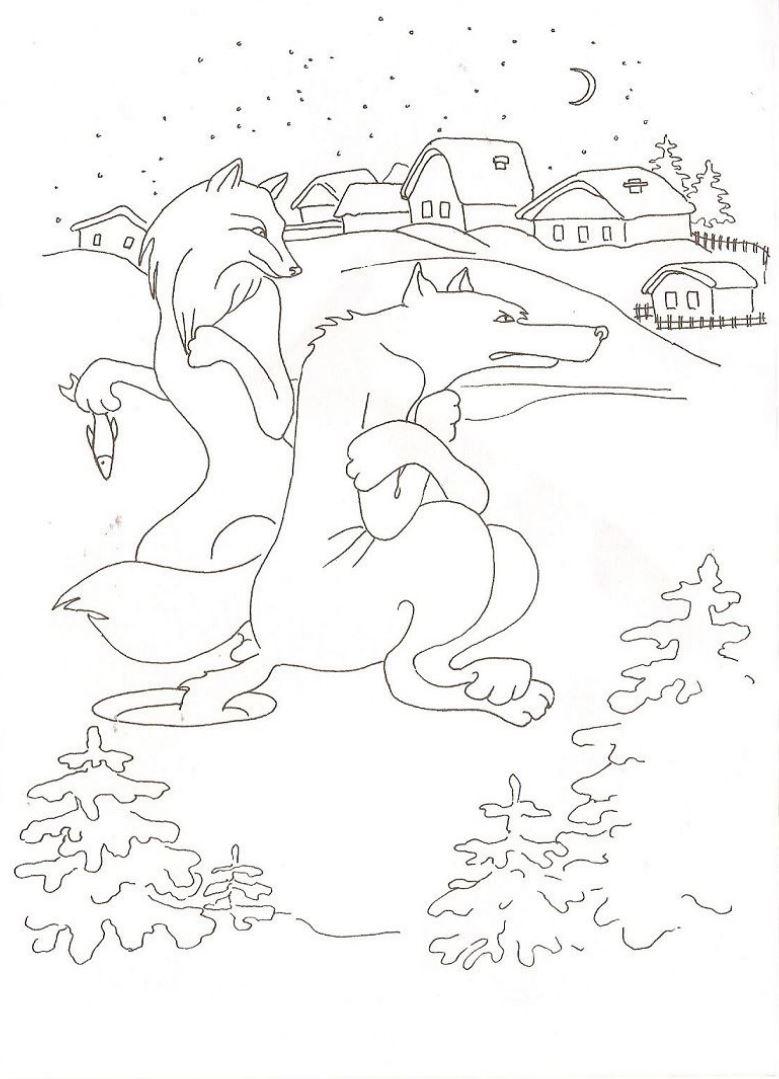 рисунки животных из русских народных сказок декорировали всевозможными