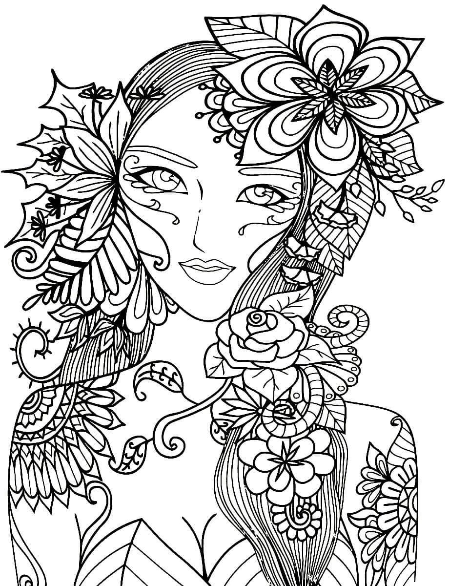 Картинка антистресс девушки