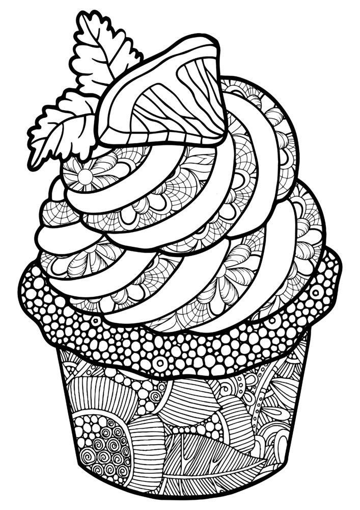 раскраска антистресс пирожные кто ещё