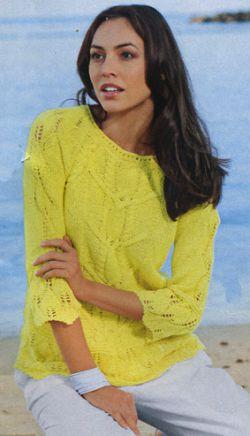 узорчатый пуловер спицами модели для вязания спицами