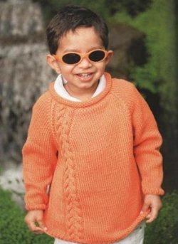 Оранжевый детский пуловер