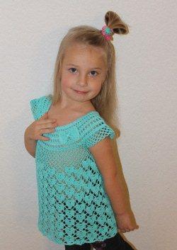 ажурная туника для девочки вязаная крючком вязание для детей
