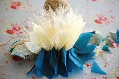 Цветок из тюля