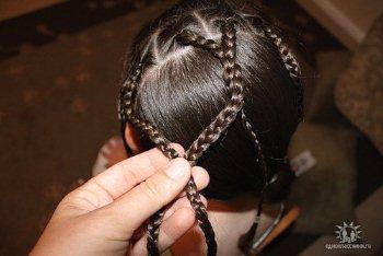 """Прическа """"Плетение из косичек"""""""